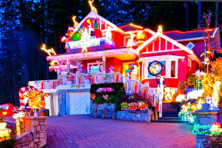 christmas display house