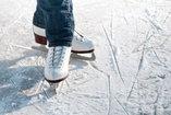 ice skates on snow