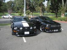 Ernest's Roush 427R (L) my Cervini C300 (R)
