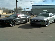 My cousins 09 GT with Foose Legends and my 06 GT with Shelby CS40.
