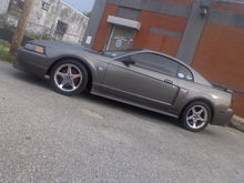 Painted brake calipers and got tint... cellphone pic FTL