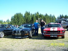 Me & hubby celebrating the Ford Drag Teams 3rd straight Car Club Challenge Championship