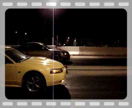 This was me at the track racing my buddy (yellow gt).  Car ran like crap and found out that it wasn't getting enough fuel.