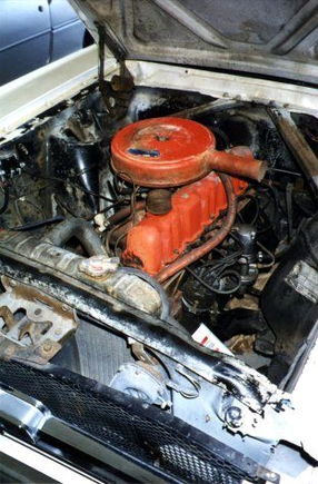 pre-resto engine compartment. eeww!