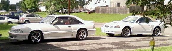 My 1988 GT and my Girlfriend's 2004 GT vert
