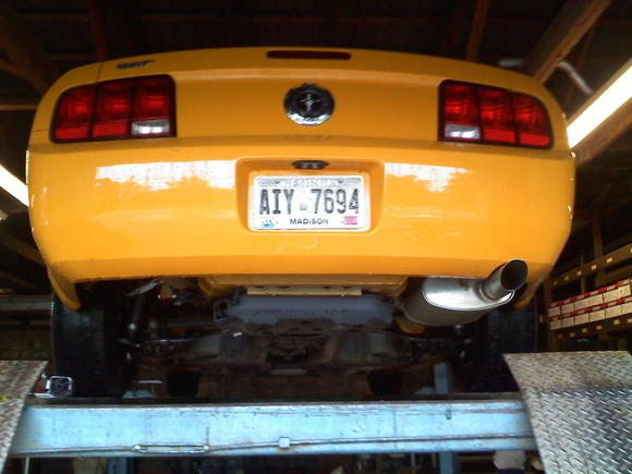 stock single exhaust