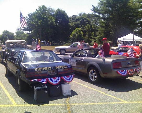 Staging for 2010 July 4th Parade in Hockessin, DE