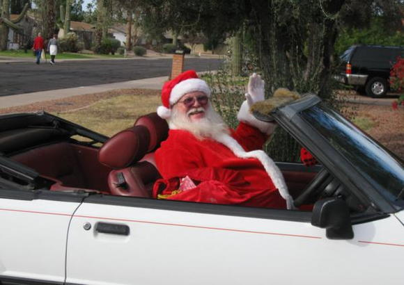 White with red interior to compliment my Santa suit..LOL