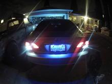 White L.E.D. Turn Signals/Hazards TRD Stainless License Plate Frame Blue L.E.D. License Plate Lamp