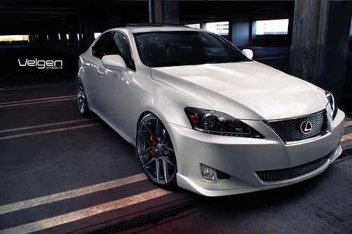Lexus IS 250 Lowered on VMB5 Matte Gunmetal