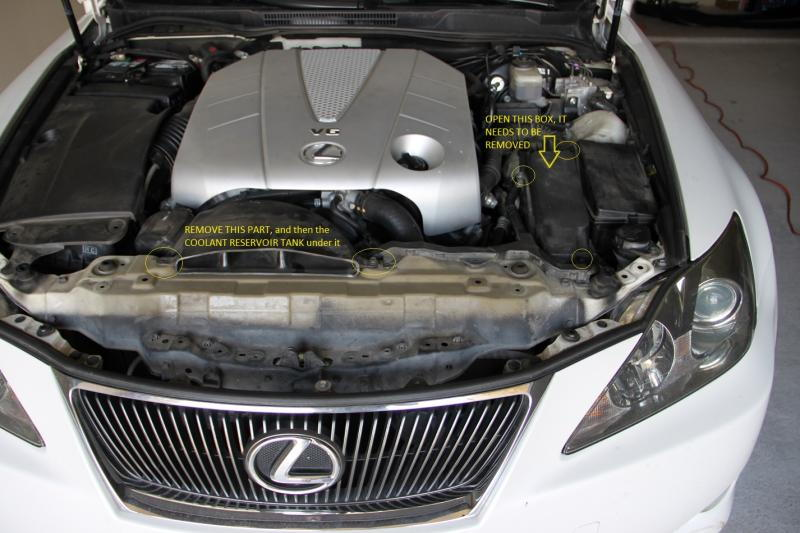 picture diy   lexus is350 alternator replacement or