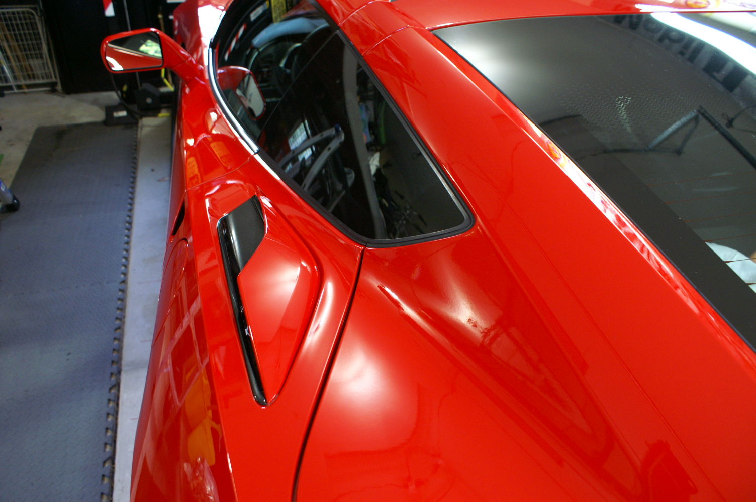 how to DIY replacing rear quarter panel vents to the Z06 style