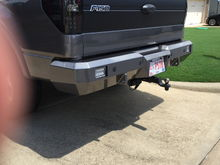 Fusion Rear Bumper with E series Rigid lights (work independent, also full on or strobe)