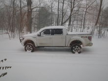 Winter storm pic of truck