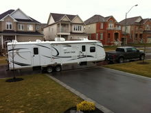 The new Sport Trek 320 VIK.  A lot bigger, and heavier!!!!  Thanks to Fred, we can now pull a much larger trailer!!!