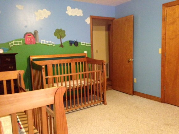 Looking from the rocking chair area towards the door.