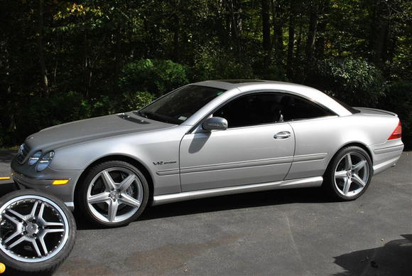 "just swapped the factory 19"" cl65 wheels for the factory 20"" cl65 wheels....
