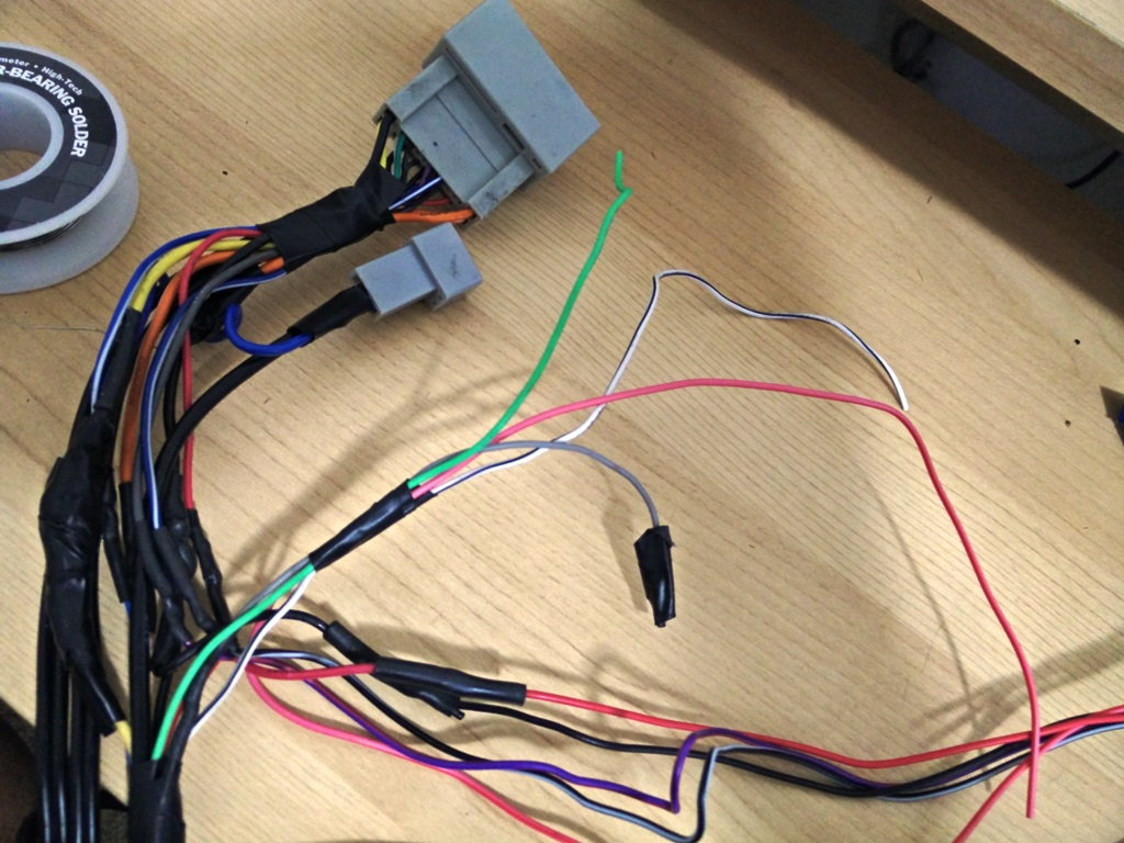 how to wire pioneer 8200 best wiring library Plantronics 8200 UC here is my handy dandy connector for reverse, handbreak, vss and bluetooth wire so