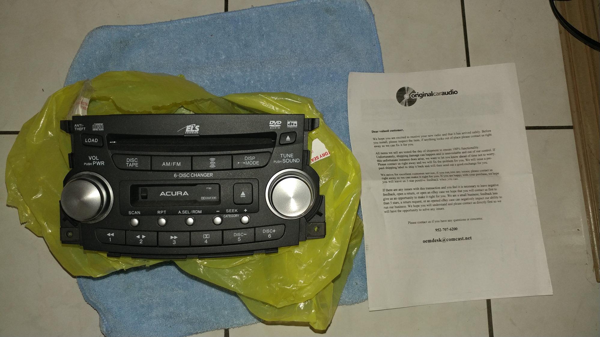 Oem Acura Radio ITB2
