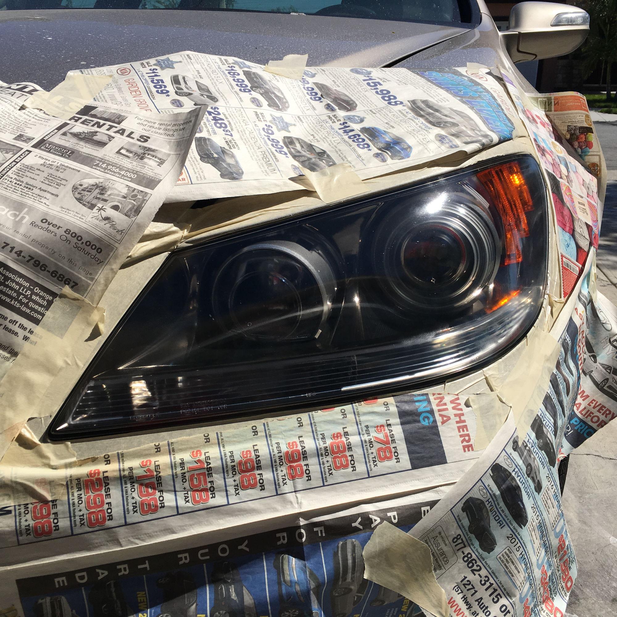 Headlight Restoration On 2005 Acura RL