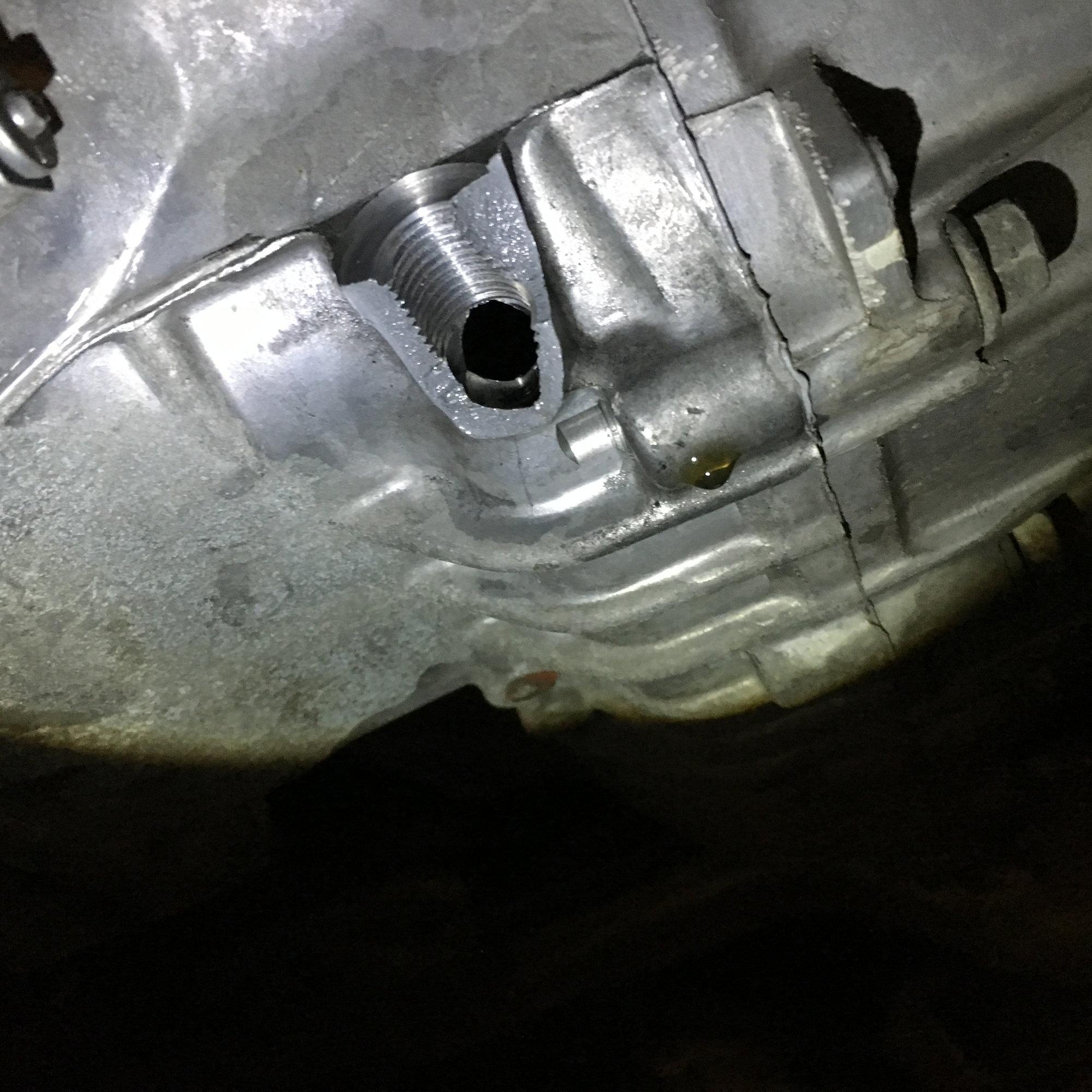 I Broke The Transmission Drain Hole