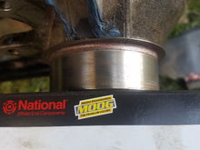 Fixed front strut hub outer lip. 1998 sportsman 500