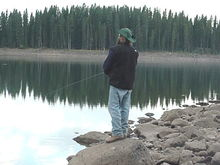 Me hunting some dinner....Ward Lake, CO