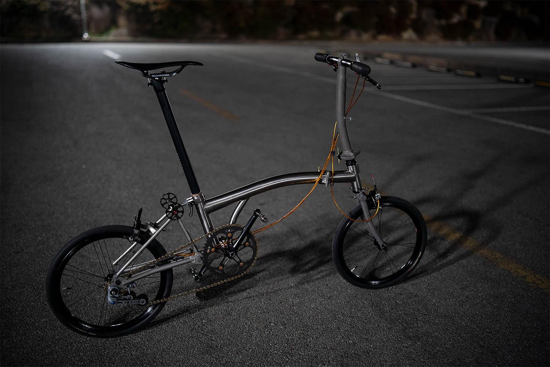 Bike Forums Full titanium Brompton clone, now done (pics)