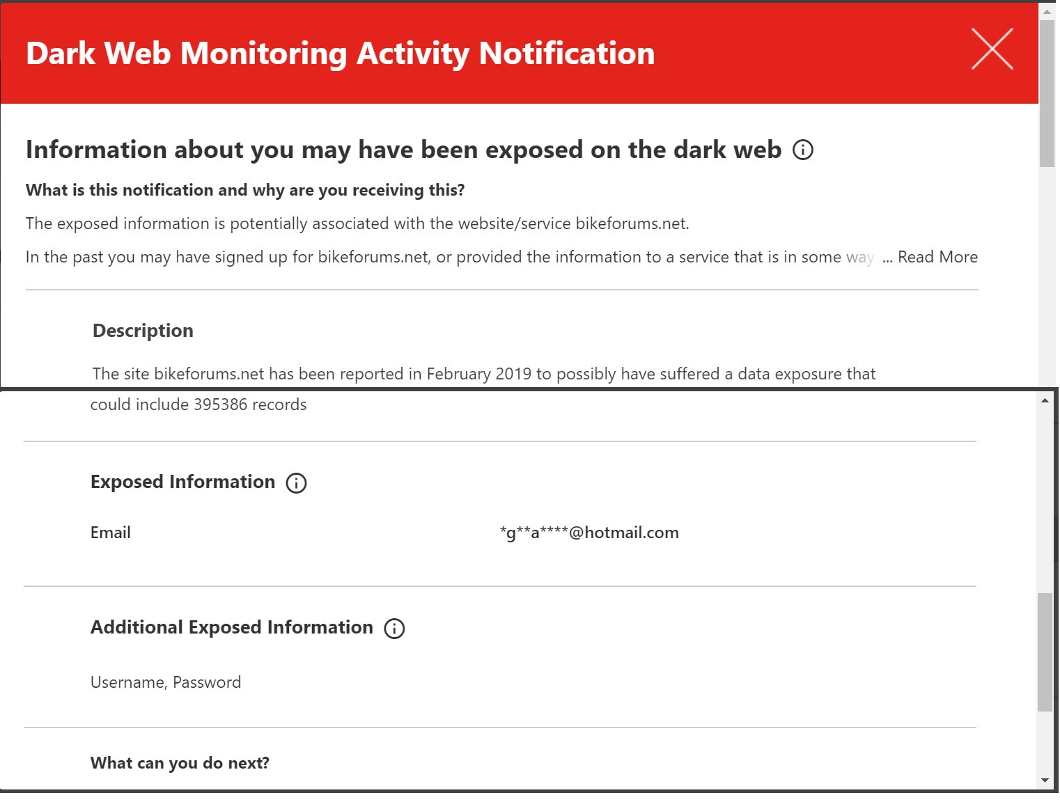 dark web alert - Bike Forums