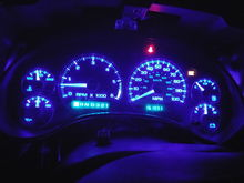 Blue led's in the console... I am using the extra bulbs for the map lights..