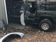 Installing fenders (door portion)