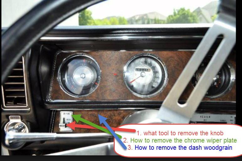 70 Cutlass Supreme - new dash wood grain install question