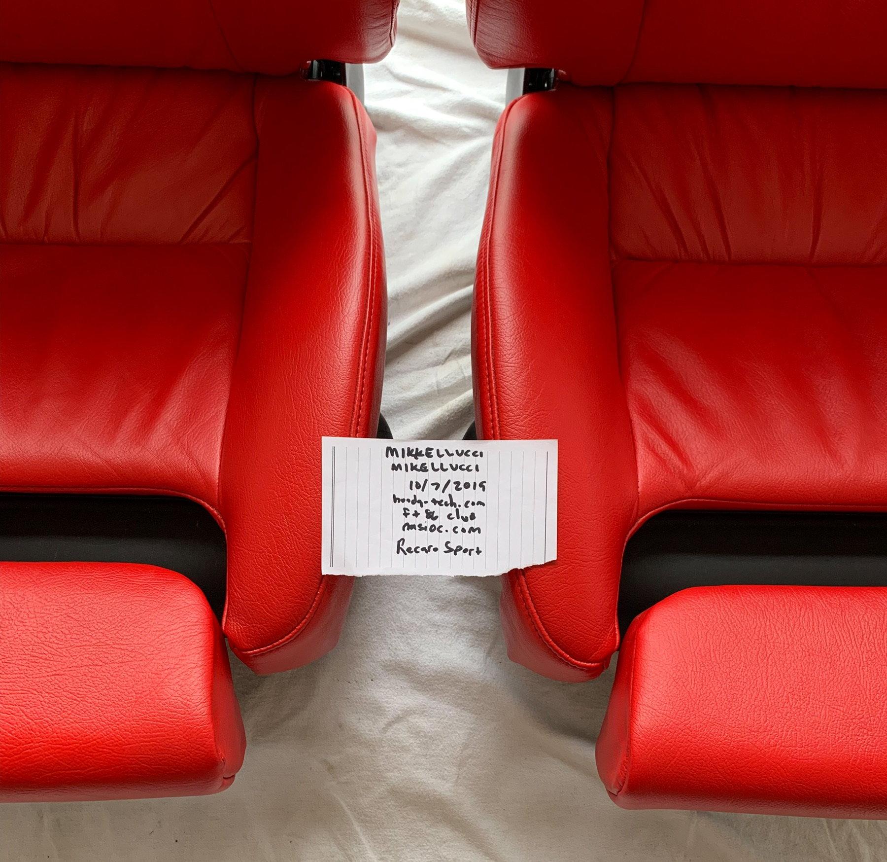Fs Recaro Sport Topline Seats Honda Tech Honda Forum