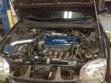 H23A.   No joke, 200 hp dohc vtec from japan.