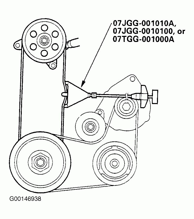 2002 Honda Odyssey Serpentine Belt Routing And Timing Belt Diagrams
