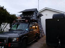 drivers side view of the tepui setup.