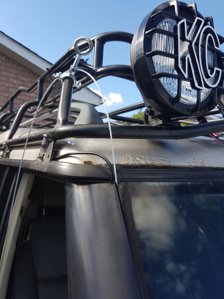 how to run wires up to roof rack for lights etc land Server Rack Wiring Best Practices
