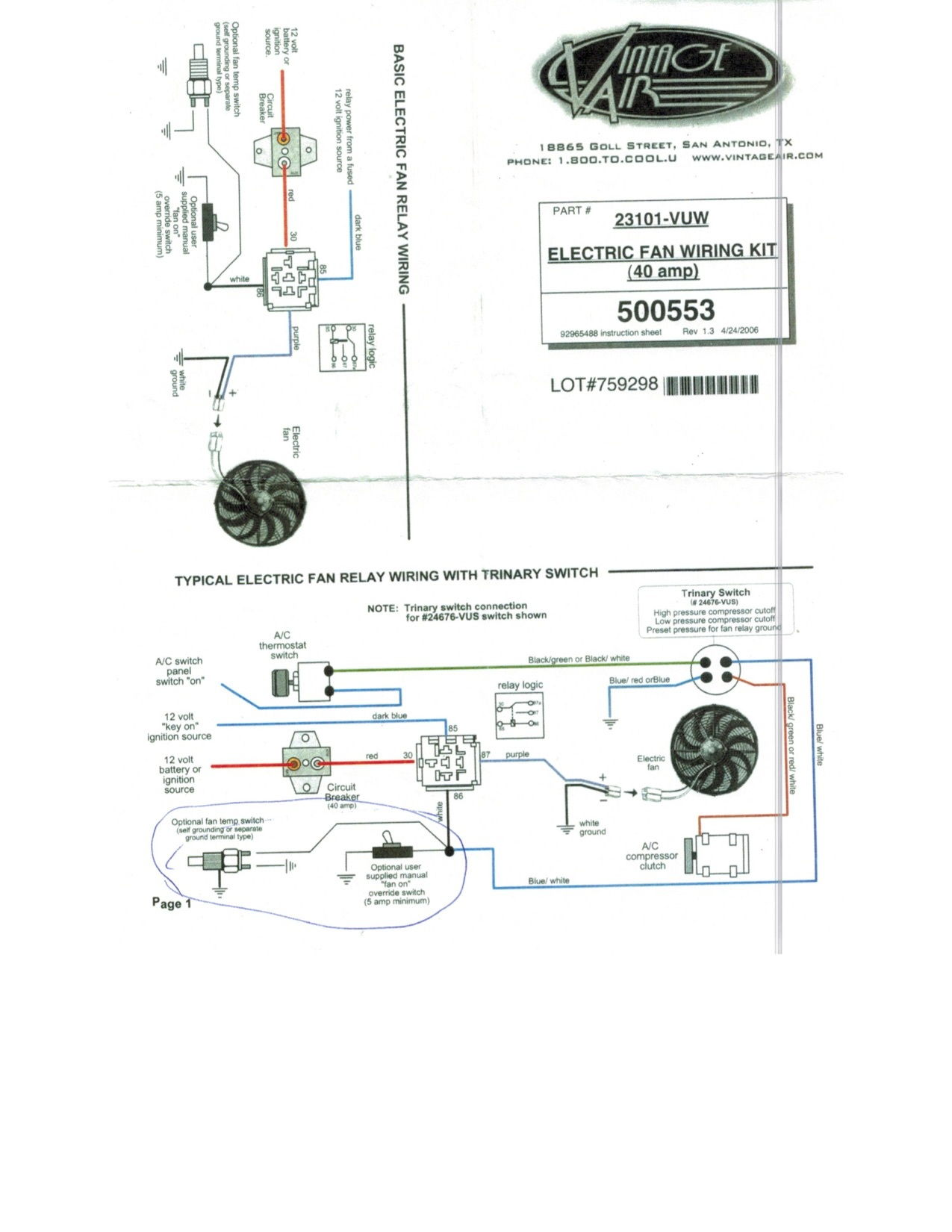 Ls1 Electric Fan Wiring Diagram : Fan wiring questions for ls with american autowire