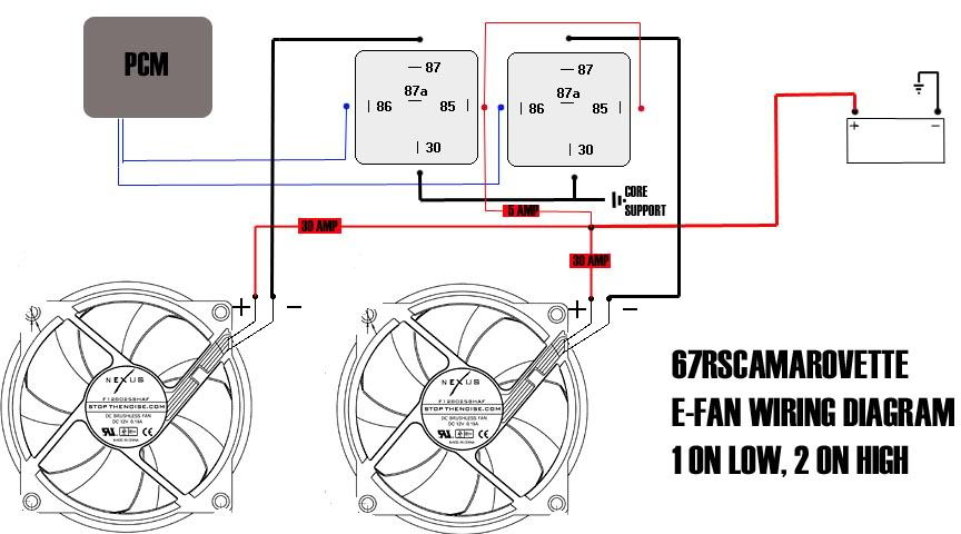 dual radiator fan wiring diagram ls1 pcm controlled fans with vintage air trinary switch ... dual fan wiring diagram #8