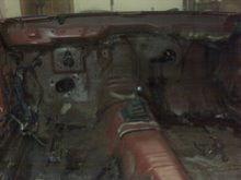 interior firewall dash removed