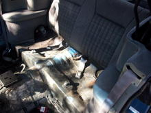 The rear seats that I took out..