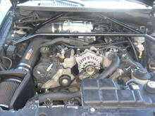 k&n intake,75mm throttle body,trick flow plenum