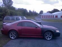 Got the fender, bumper, headlights, etc. back on....