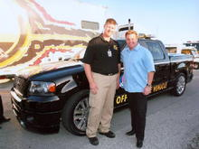 Chip and Myself with the 2007 Homestead Pace Truck He Designed.