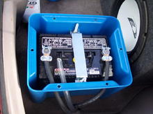 Battery relocated into the trunk