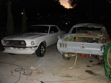 """I looked just like you, not so long ago"". Said the 68' Coupe, to the 67' Fastback."