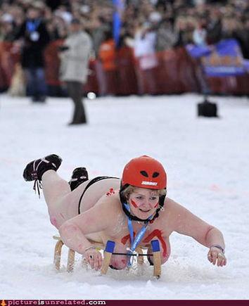 wtf pics top heavy sled