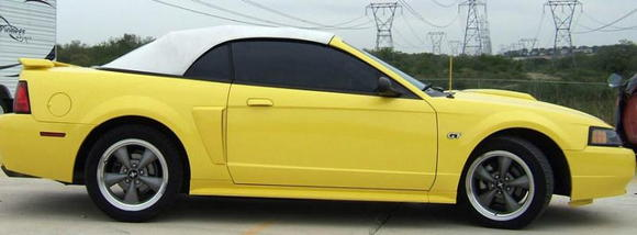 2002 Ford Mustang GT Convertible - Side view