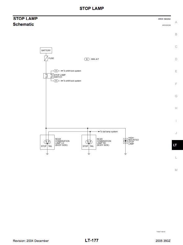 350z fuse diagram center brake light not working  need help  my350z com nissan  center brake light not working  need