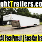 8.5x40 Pace Pursuit | Gooseneck Race Car Trailer